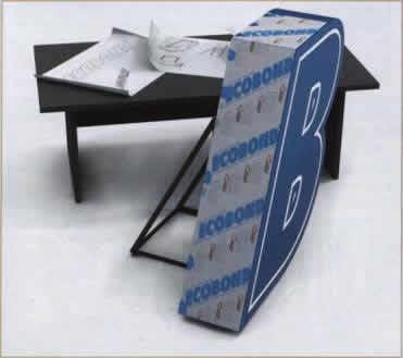 Объёмная буква из композитной панели