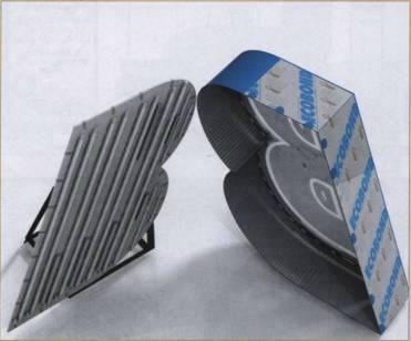 Тыльная часть на основе вспененной ПВХ панели с укрепляющими торцевыми вставками