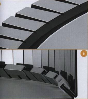 Выкройки лепестков и способ их крепления для образования кривых рёбер на стыке двух поверхностей композитных панелей