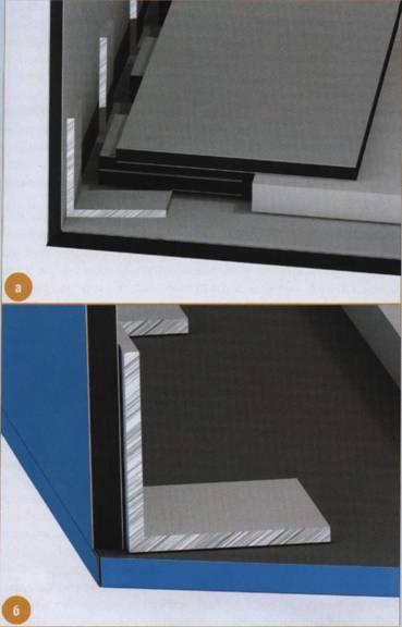 Соединение частей с помощью алюминиевых уголков